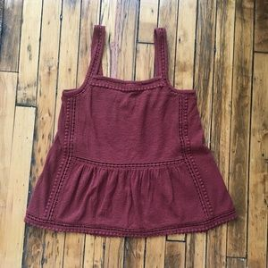 J. Crew Embroidered Trim Tank in Textured Crepe